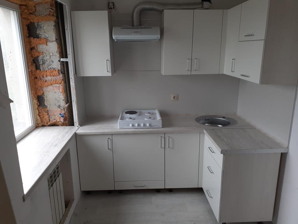 """Белая кухня на заказ """"Эконом"""""""