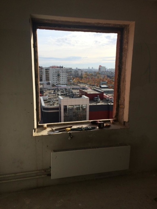 Двустворчатое пластиковое окно - 9500 руб.