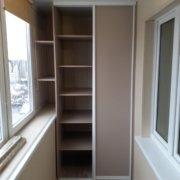 Встроенный шкаф-купе на балкон за 13000 руб.
